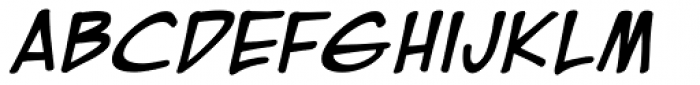 EuroComic Bold Italic Font LOWERCASE