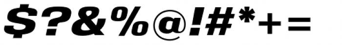 Eurocine Wide Bold Oblique Font OTHER CHARS