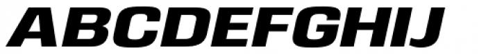 Eurocine Wide Bold Oblique Font UPPERCASE