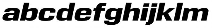 Eurocine Wide Bold Oblique Font LOWERCASE