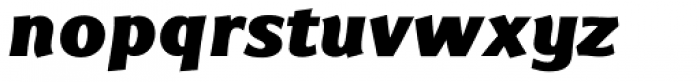 Eurocrat Black Italic Font LOWERCASE