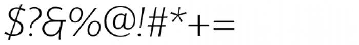 Eurocrat Light Italic Font OTHER CHARS