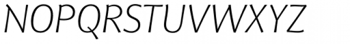 Eurocrat Light Italic Font UPPERCASE