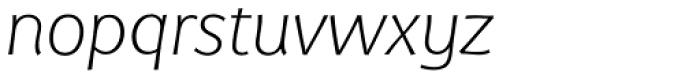 Eurocrat Light Italic Font LOWERCASE