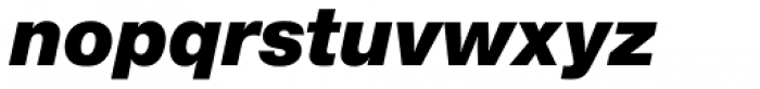 Europa Grotesk Nr 2 SB UltraBold Italic Font LOWERCASE