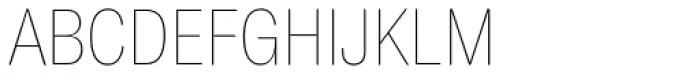 Europa Grotesk Nr 2 SB UltraLight Cond Font UPPERCASE