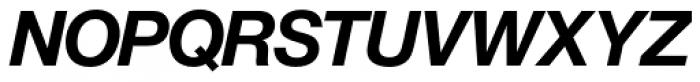 Europa Grotesk Nr 2 SH Bold Italic Font UPPERCASE