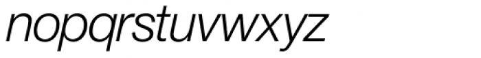 Europa Grotesk Nr 2 SH Light Italic Font LOWERCASE