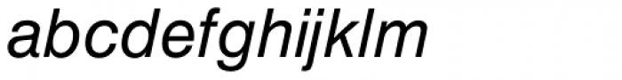 Europa Grotesk SB Italic Font LOWERCASE