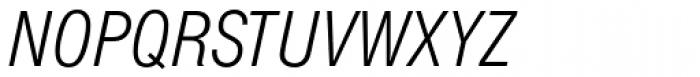 Europa Grotesk SB Light Cond Italic Font UPPERCASE