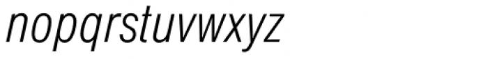 Europa Grotesk SB Light Cond Italic Font LOWERCASE