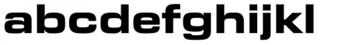 Eurostile Bold Extended #2 Font LOWERCASE