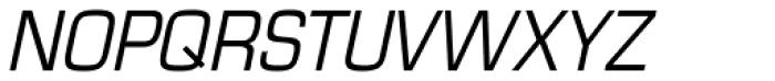 Eurostile Cond Italic Font UPPERCASE