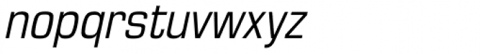 Eurostile Cond Italic Font LOWERCASE