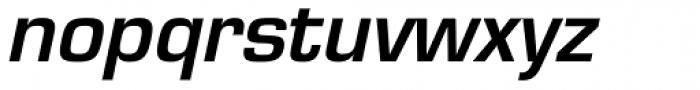 Eurostile Demi Oblique Font LOWERCASE