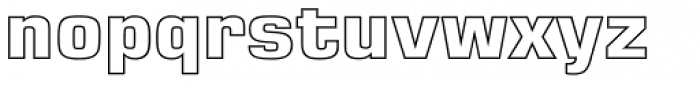 Eurostile LT Pro Outline Bold Font LOWERCASE