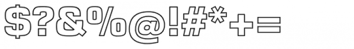Eurostile LT Std Outline Bold Font OTHER CHARS