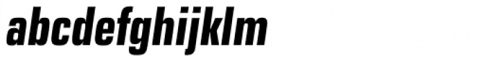Eurostile Next Pro Condensed Bold Italic Font LOWERCASE