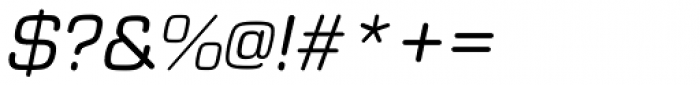 Eurostile Round Italic Font OTHER CHARS