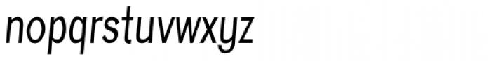 Eurydome Condensed Italic Font LOWERCASE