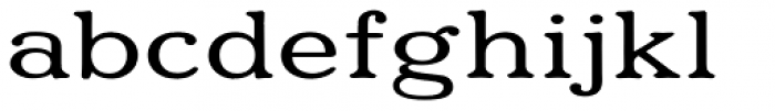 Eutheric Expanded Font LOWERCASE