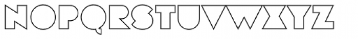 Eutopia Outline Font UPPERCASE