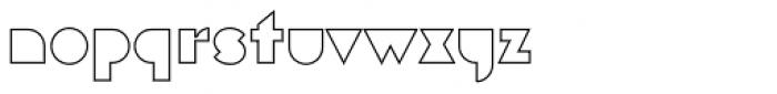 Eutopia Outline Font LOWERCASE