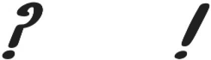 EVE SERIF Italic otf (400) Font OTHER CHARS