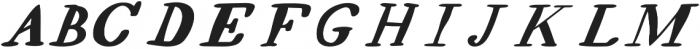 EVE SERIF Italic otf (400) Font UPPERCASE