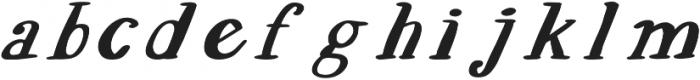 EVE SERIF Italic otf (400) Font LOWERCASE