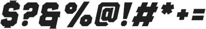 Evanston Alehouse Heavy 1858 Oblique otf (800) Font OTHER CHARS