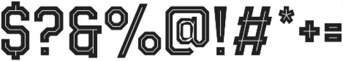 Evanston Tavern 1846 Medium Inline otf (500) Font OTHER CHARS