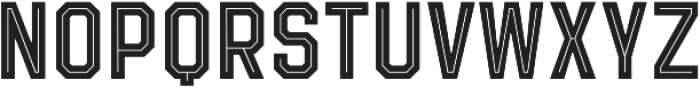 Evanston Tavern 1846 Medium Inline otf (500) Font UPPERCASE
