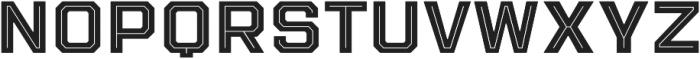 Evanston Tavern 1919 Bold Inline otf (700) Font LOWERCASE