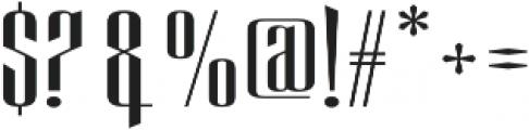 Eveagita Luxury otf (700) Font OTHER CHARS