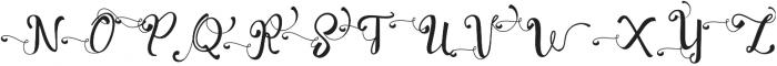 Evelynswsh otf (400) Font UPPERCASE