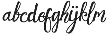 Evelynswsh otf (400) Font LOWERCASE