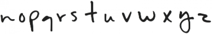 Evenflow otf (400) Font LOWERCASE