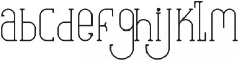 EverditeStd ttf (400) Font LOWERCASE