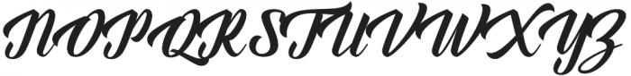 Everglow otf (400) Font UPPERCASE