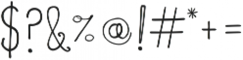 Everyday Charm Script otf (400) Font OTHER CHARS