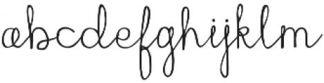 Everyday Charm Script otf (400) Font LOWERCASE