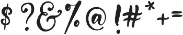 Everyday Loving otf (400) Font OTHER CHARS