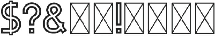 Evo Outline otf (400) Font OTHER CHARS