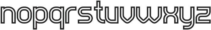 Evo Outline otf (400) Font LOWERCASE