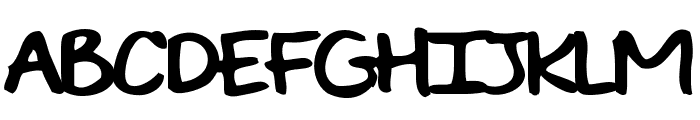 EVIE'S HANDRegular Font UPPERCASE