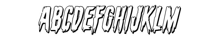 Eva Fangoria 3D Italic Font UPPERCASE