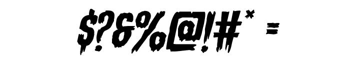 Eva Fangoria Expanded Italic Font OTHER CHARS