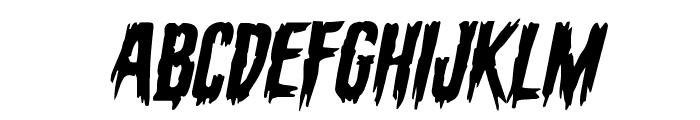 Eva Fangoria Expanded Italic Font UPPERCASE