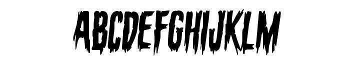 Eva Fangoria Semi-Italic Font UPPERCASE